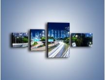 Obraz na płótnie – Autostrada prowadząca do Hong Kongu – czteroczęściowy AM504W5