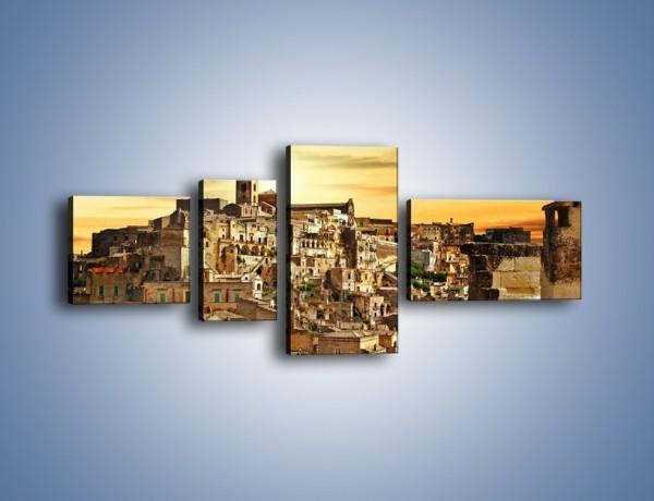 Obraz na płótnie – Matera – miasto wykute w skale – czteroczęściowy AM517W5