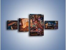 Obraz na płótnie – Centrum Las Vegas – czteroczęściowy AM588W5