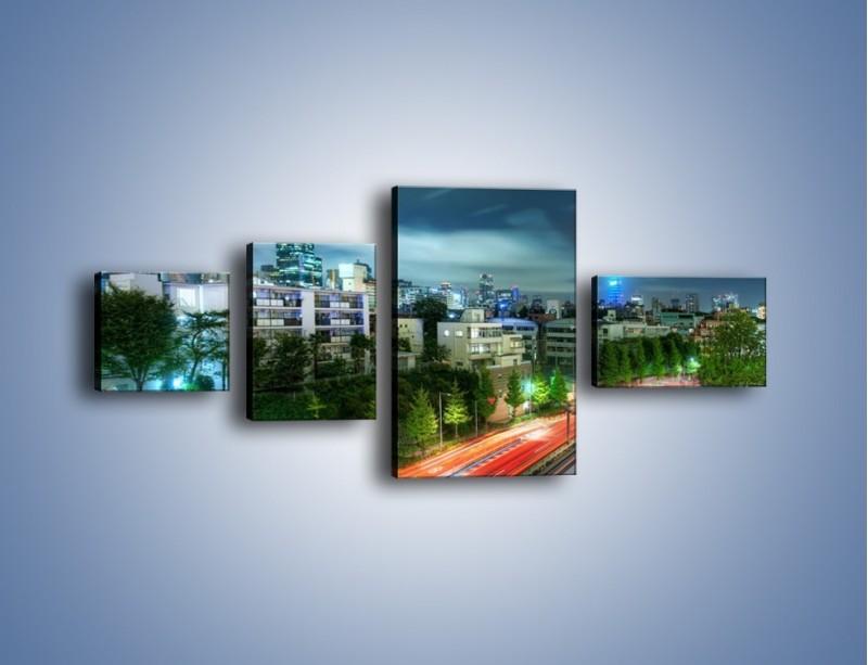 Obraz na płótnie – Miasto Roppongi w Japonii – czteroczęściowy AM593W5