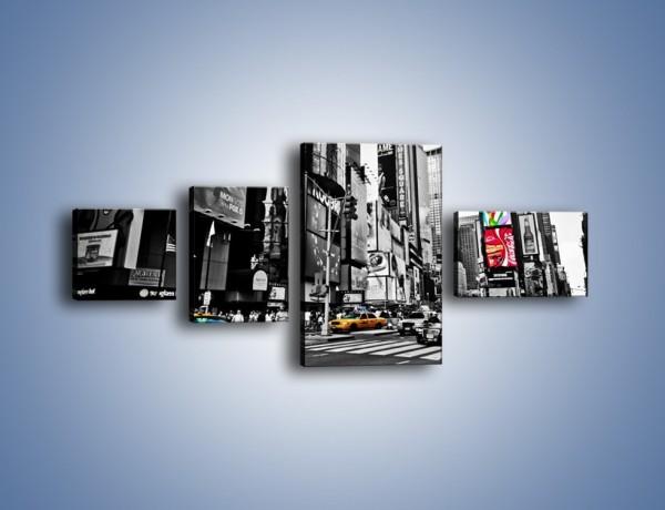 Obraz na płótnie – Times Square w godzinach szczytu – czteroczęściowy AM598W5