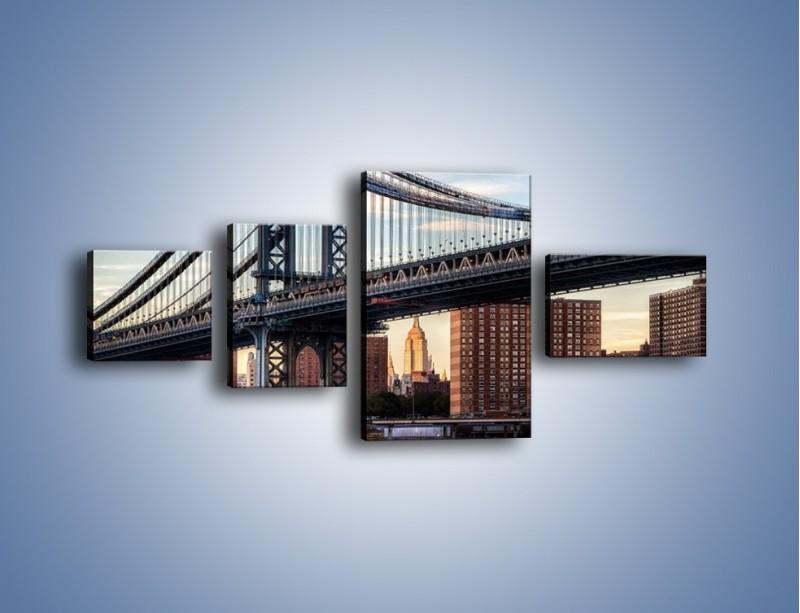 Obraz na płótnie – Manhattan Bridge – czteroczęściowy AM607W5
