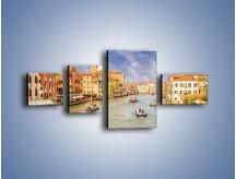 Obraz na płótnie – Canal Grande w Wenecji o poranku – czteroczęściowy AM617W5