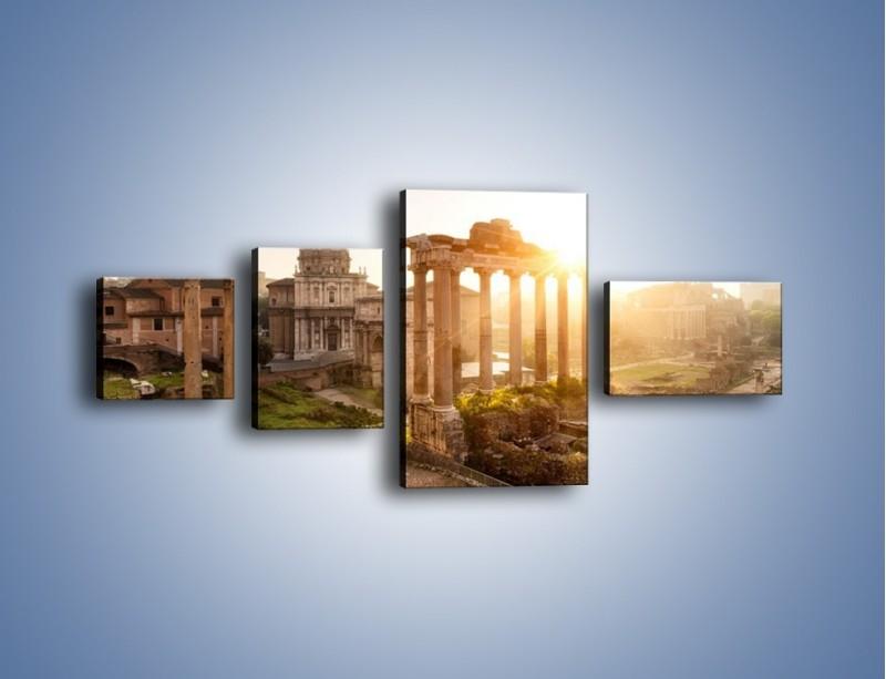 Obraz na płótnie – Starożytna architektura Rzymu – czteroczęściowy AM638W5