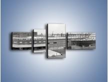 Obraz na płótnie – Amerykańskie doki na początku XX wieku – czteroczęściowy AM641W5