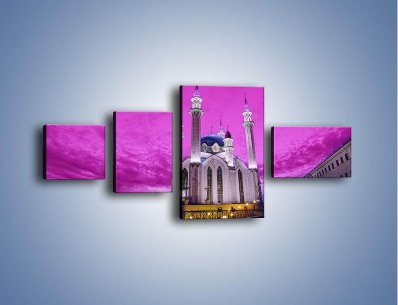 Obraz na płótnie – Meczet Kul Szarif – czteroczęściowy AM642W5
