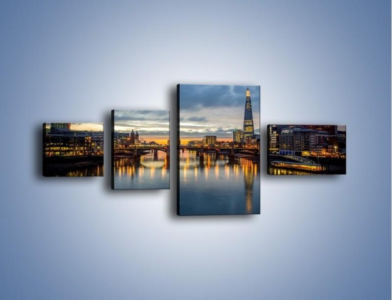 Obraz na płótnie – Millennium Bridge w Londynie – czteroczęściowy AM651W5