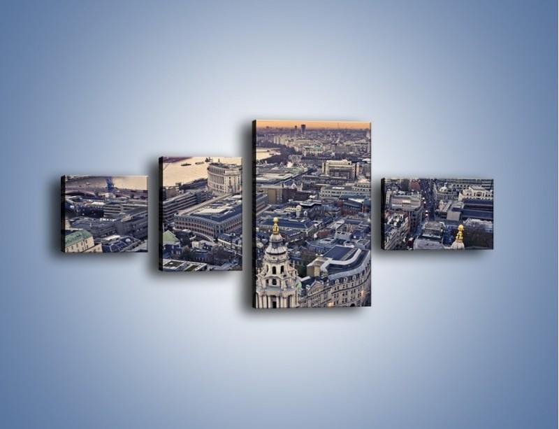 Obraz na płótnie – Widok na Londyn z Katedry św. Pawła – czteroczęściowy AM652W5