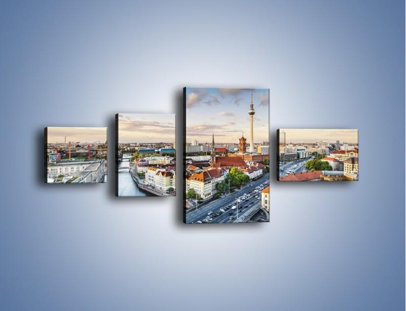 Obraz na płótnie – Panorama Berlina – czteroczęściowy AM673W5