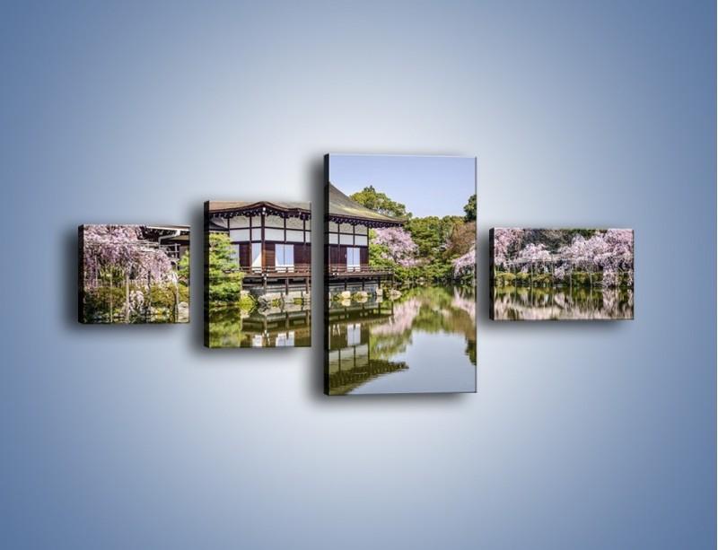 Obraz na płótnie – Świątynia Heian Shrine w Kyoto – czteroczęściowy AM677W5