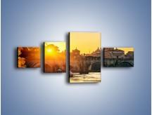 Obraz na płótnie – Bazylika św. Piotra o zachodzie słońca – czteroczęściowy AM685W5