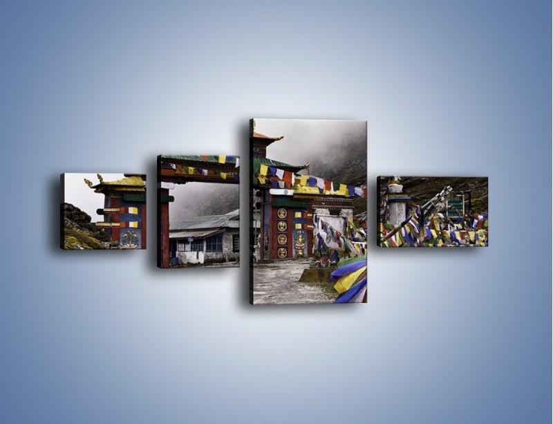 Obraz na płótnie – Brama do miasta Tawang w Tybecie – czteroczęściowy AM689W5