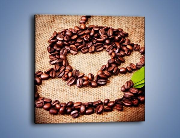 Obraz na płótnie – Wyraźny znak w kawie – jednoczęściowy kwadratowy JN444
