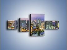 Obraz na płótnie – Centrum Miami – czteroczęściowy AM702W5