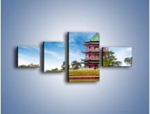 Obraz na płótnie – Chiński ogród w Singapurze – czteroczęściowy AM715W5