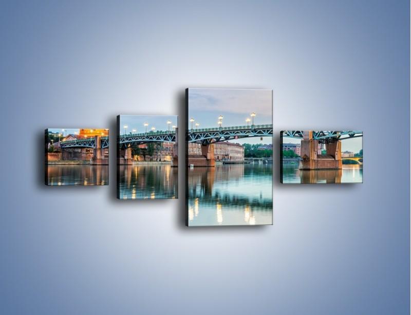 Obraz na płótnie – Most Saint-Pierre w Tuluzie – czteroczęściowy AM721W5
