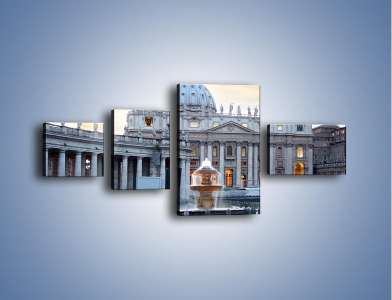 Obraz na płótnie – Bazylika św. Piotra w Watykanie – czteroczęściowy AM722W5