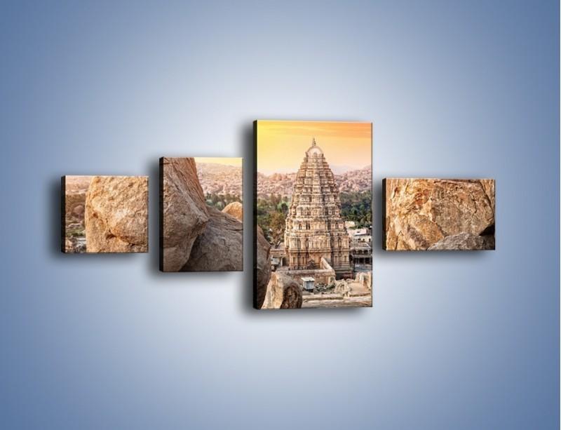 Obraz na płótnie – Świątynia Virupaksha w Indiach – czteroczęściowy AM787W5