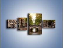 Obraz na płótnie – Amsterdamski kanał – czteroczęściowy AM800W5