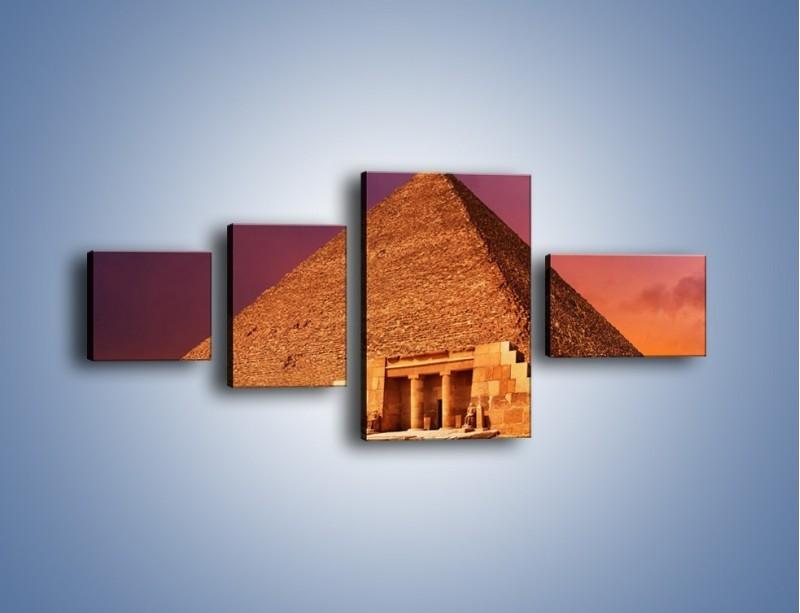 Obraz na płótnie – Piramida w Egipcie – czteroczęściowy AM812W5