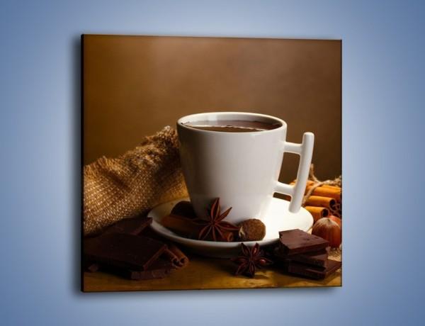 Obraz na płótnie – Gorąca czekolada z dodatkami – jednoczęściowy kwadratowy JN452