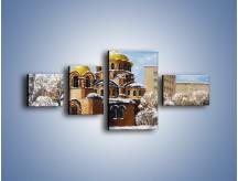 Obraz na płótnie – Cerkiew w trakcie zimy – czteroczęściowy GR024W5