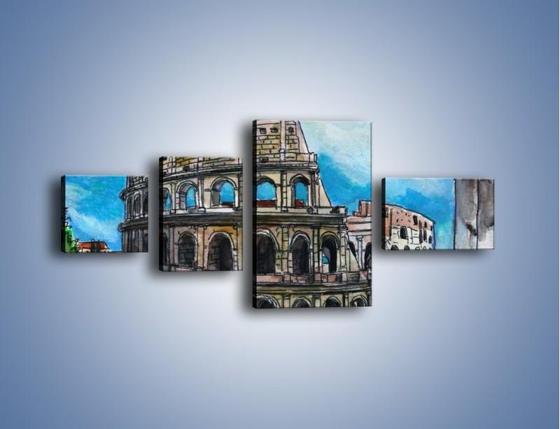 Obraz na płótnie – Znana budowla z bliska – czteroczęściowy GR039W5