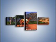 Obraz na płótnie – Arabski szejk na koniu – czteroczęściowy GR052W5
