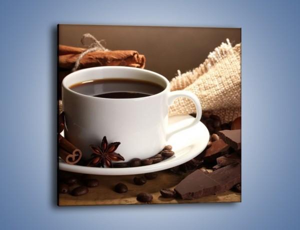 Obraz na płótnie – Kawa z dodatkiem czekolady – jednoczęściowy kwadratowy JN453