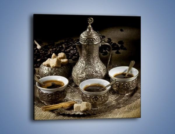 Obraz na płótnie – Tajemnicze opowieści przy kawie – jednoczęściowy kwadratowy JN455
