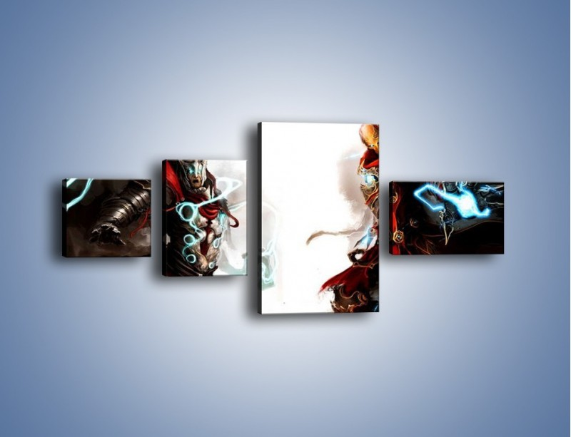 Obraz na płótnie – Walka z potężną siłą – czteroczęściowy GR207W5