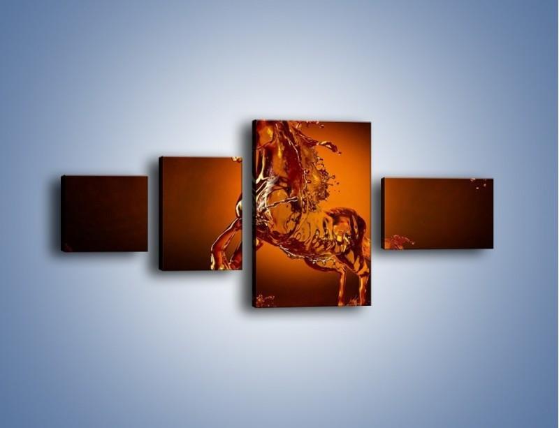 Obraz na płótnie – Wodny koń w mocnym świetle – czteroczęściowy GR228W5