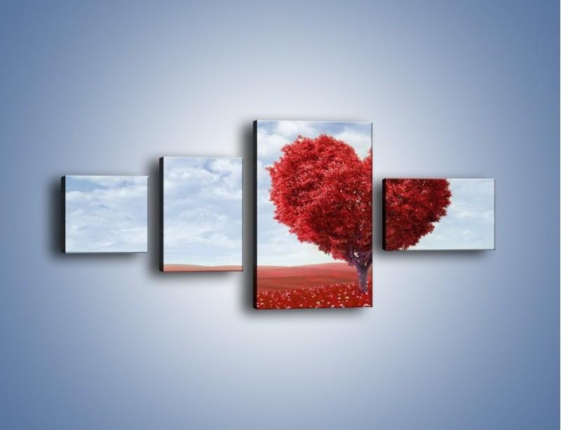 Obraz na płótnie – Polaną w stronę miłości – czteroczęściowy GR249W5