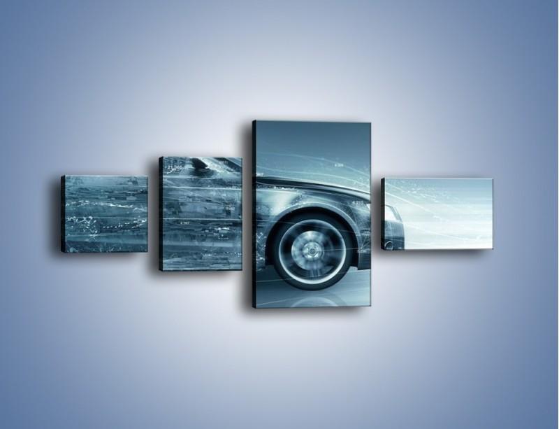 Obraz na płótnie – Auto z prędkością światła – czteroczęściowy GR264W5