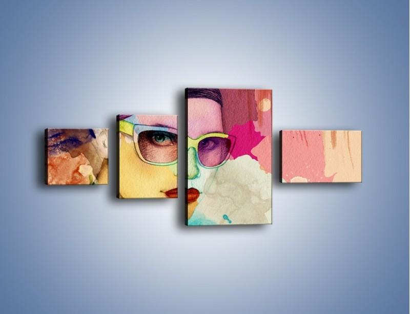 Obraz na płótnie – Okulary idealnie dopasowane – czteroczęściowy GR327W5