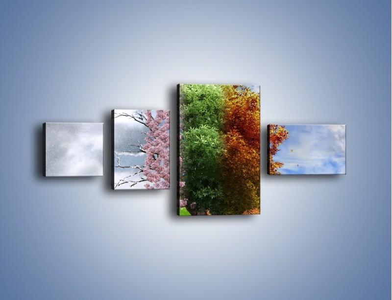 Obraz na płótnie – Cztery pory roku – czteroczęściowy GR333W5