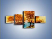 Obraz na płótnie – Drzewa nad samą wodą – czteroczęściowy GR352W5