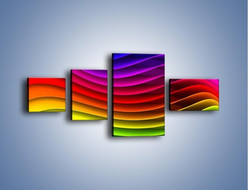 Obraz na płótnie – Falą w kolorze – czteroczęściowy GR393W5