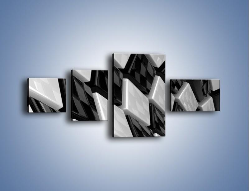 Obraz na płótnie – Czarne czy białe – czteroczęściowy GR425W5