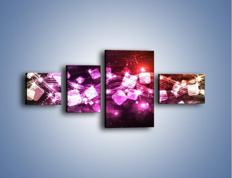 Obraz na płótnie – Płynąć razem z falą – czteroczęściowy GR430W5