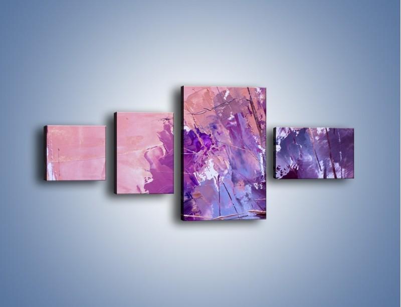 Obraz na płótnie – Mocna barwa fioletu – czteroczęściowy GR472W5
