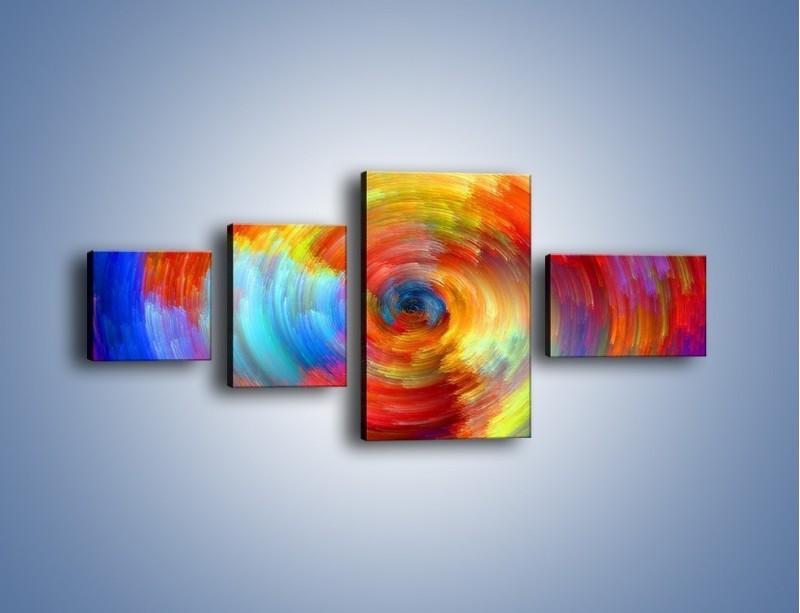 Obraz na płótnie – Kolorowy wir – czteroczęściowy GR502W5