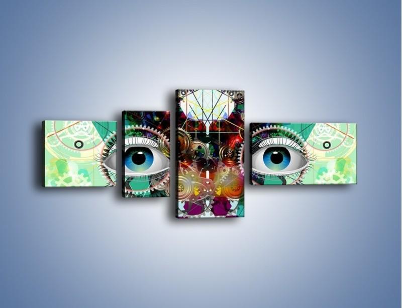 Obraz na płótnie – Mechanicznie otwarte oczy – czteroczęściowy GR504W5