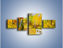 Obraz na płótnie – Alejką w słoneczna jesień – czteroczęściowy GR540W5