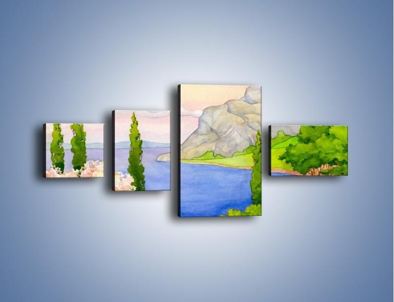 Obraz na płótnie – Krajobraz jak z pocztówki – czteroczęściowy GR541W5