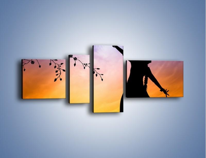 Obraz na płótnie – Wieczorny cygański taniec – czteroczęściowy GR597W5