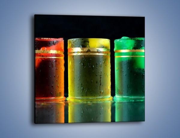 Obraz na płótnie – Drinki w wybranych kolorach – jednoczęściowy kwadratowy JN465