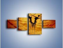 Obraz na płótnie – Dotyk w tańcu – czteroczęściowy GR633W5