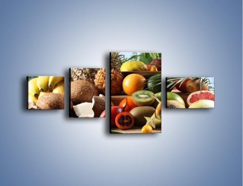 Obraz na płótnie – Mix owocowy na drewnianym stole – czteroczęściowy JN009W5