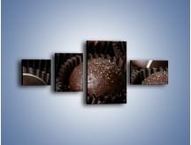 Obraz na płótnie – Czekoladowe praliny w foremkach – czteroczęściowy JN040W5